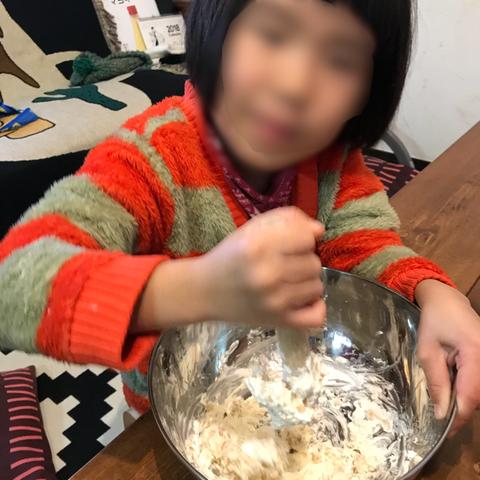 子どもと一緒に手作りケーキ3