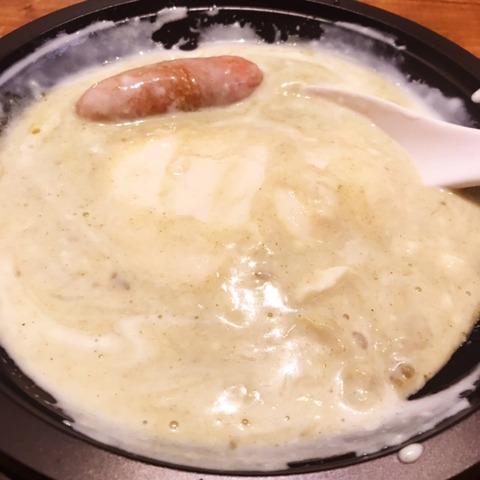 豆乳たっぷりグリーンカレー豆腐鍋5