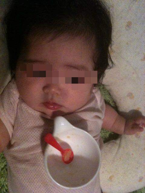 離乳食期間中の赤ちゃん