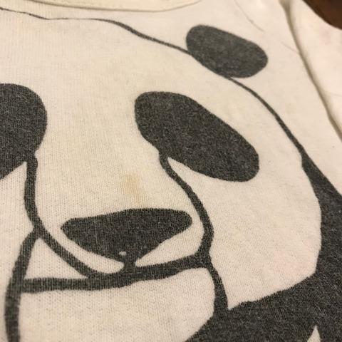 メルカリに出品したパンダTシャツ