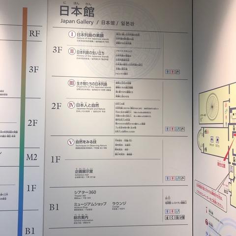 上野国立科学博物館日本館館内案内図