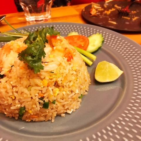 タイ料理カオパットクン