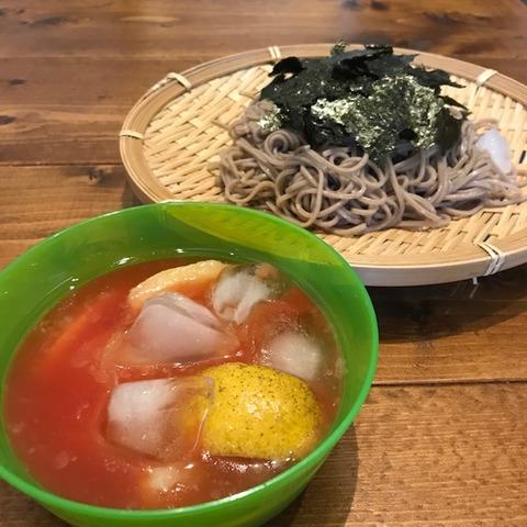 トマトジュース+麺つゆ+塩レモンそば