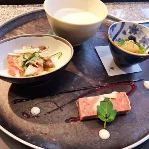 銀座季楽ランチ前菜