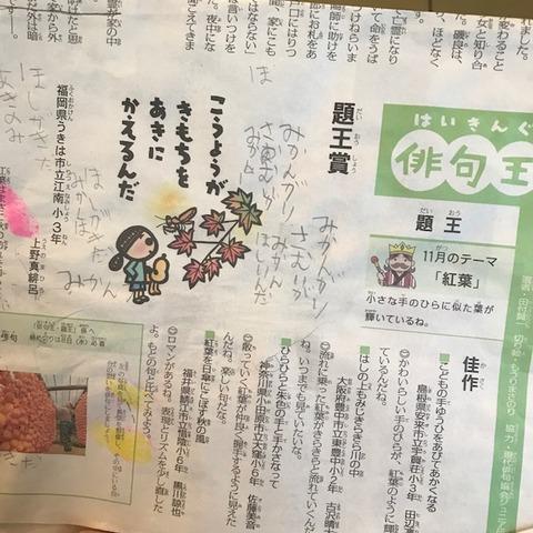 毎日小学生新聞俳句王