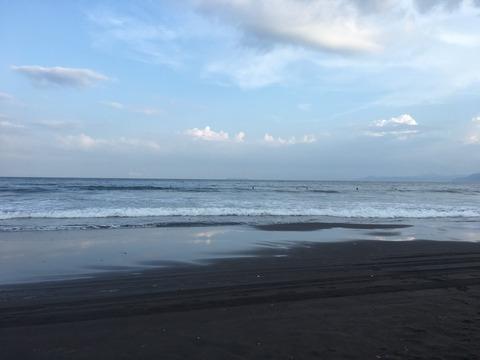 吉浜の海夜