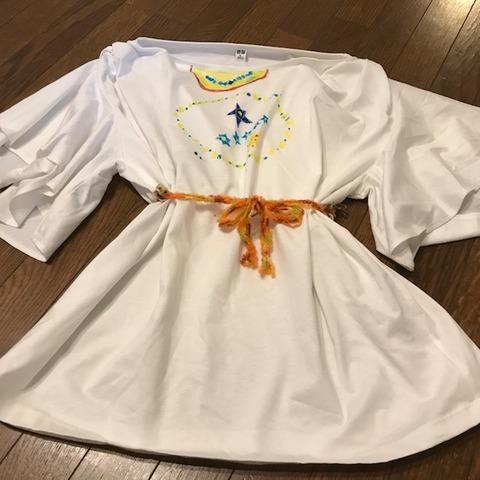 子どもと手作りドレス3