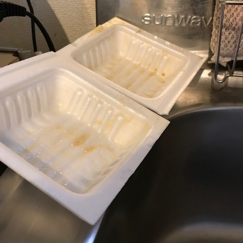 食べ終わった後の納豆パック
