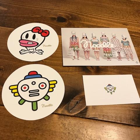 Noodleヌードルステッカーポストカード