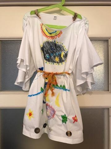 子どもと手作りドレス7
