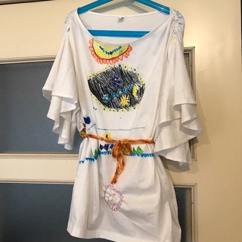 子どもと手作りドレス5