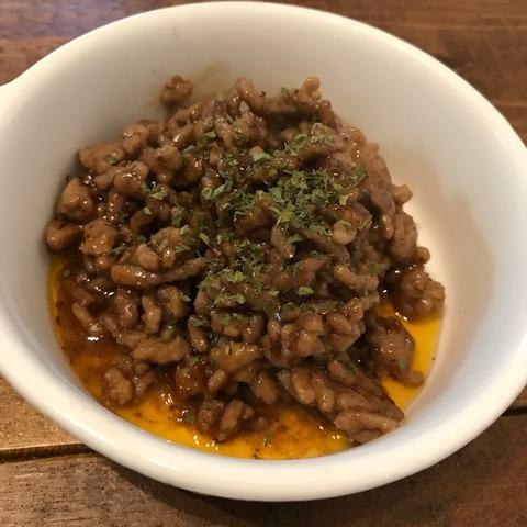 ごまとんかつソースアレンジ肉味噌