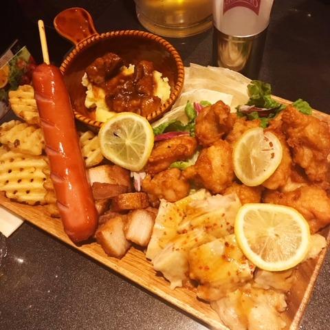 ビックエコーカラオケパーティーコース料理肉盛りプレート