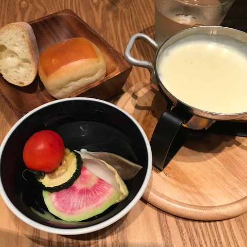 チーズキッチンラクレチーズフォンデュサラダ