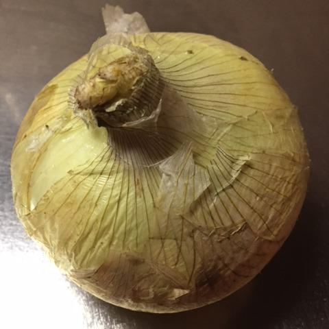新玉ねぎの丸ごとレンジ蒸し作り方1