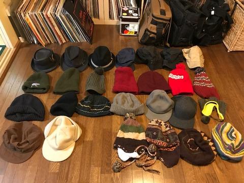 大量帽子収納