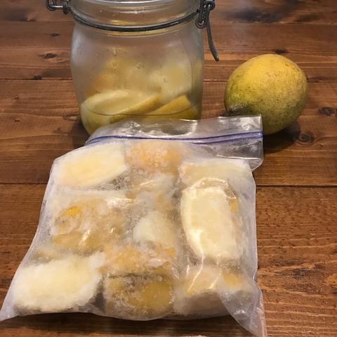 国産レモン大量消費残ったレモン