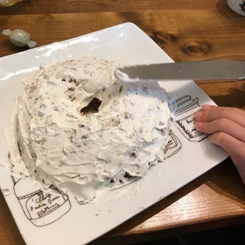 子どもと一緒に手作りケーキ6