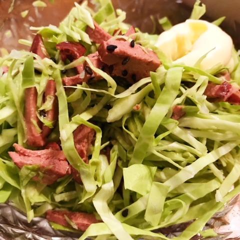 明治ケンコーハムスモークレバー食べ方サラダ2