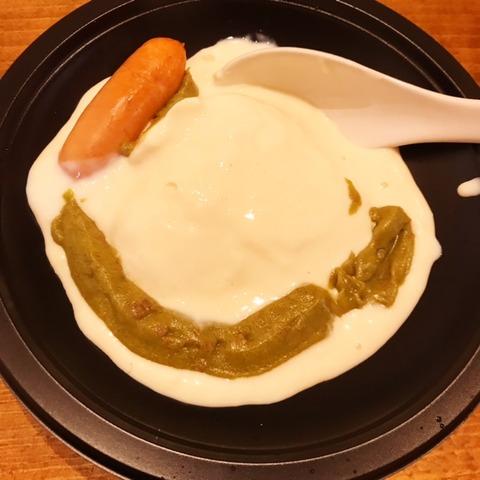 豆乳たっぷりグリーンカレー豆腐鍋3