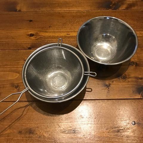 我が家の調理道具7ミニザルとボウル