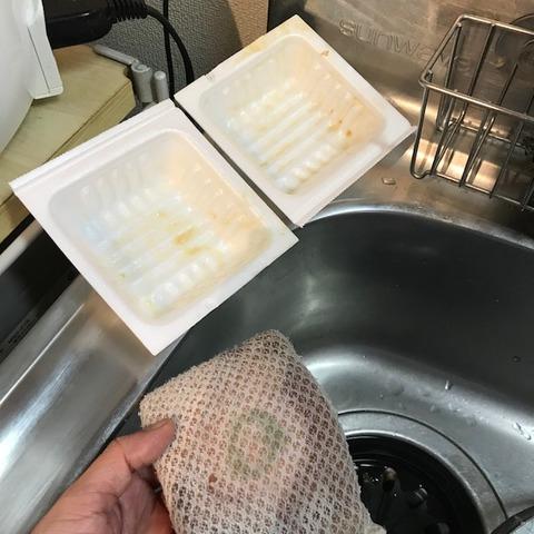 納豆活用食器の洗い方