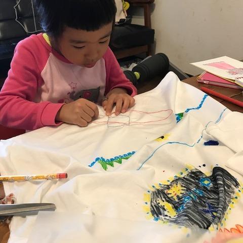 子どもと手作りドレス4