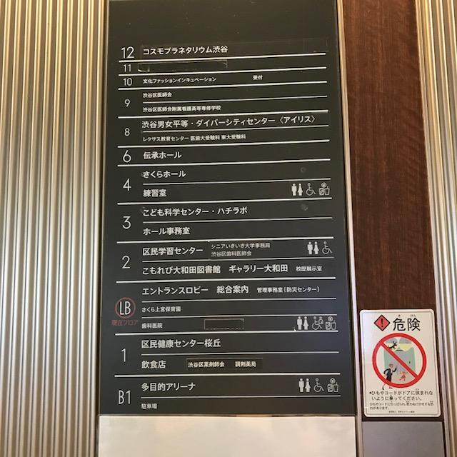 渋谷ハチラボ最上階にはプラネタリウム