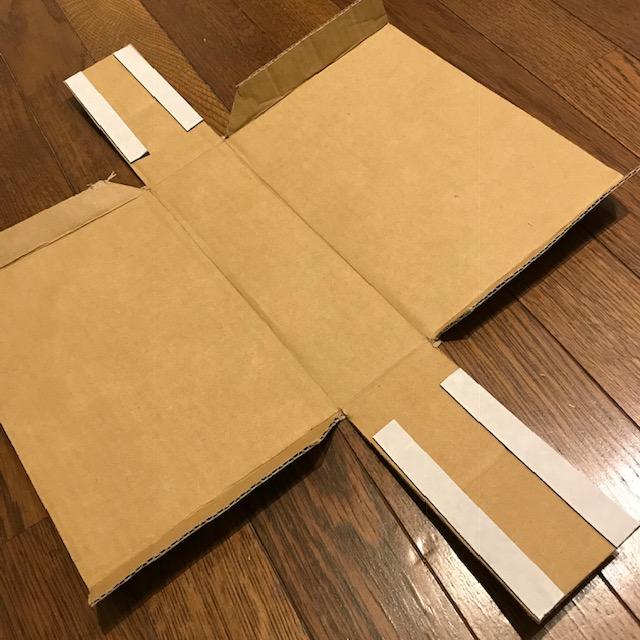 ダンボールで収納ボックスを作ってみた3