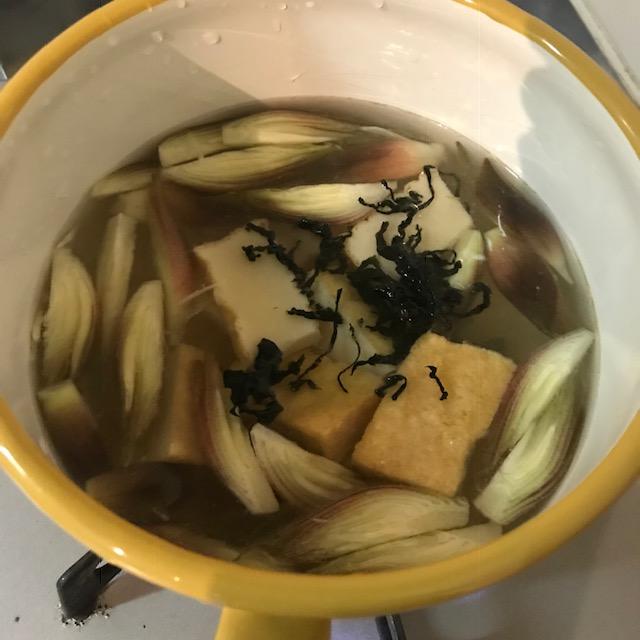 ミョウガ大量消費レシピお味噌汁