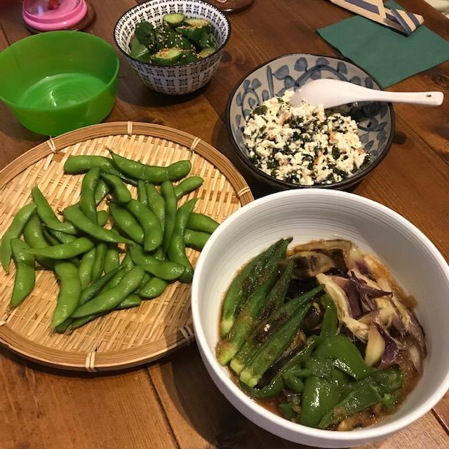 ミョウガ大量消費レシピ夏野菜の揚げ浸し