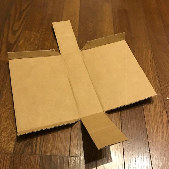 ダンボールで収納ボックスを作ってみた2