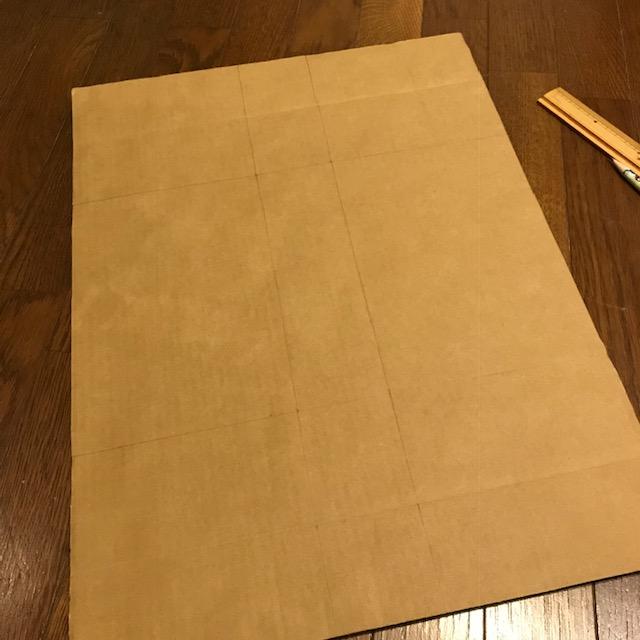 ダンボールで収納ボックスを作ってみた1