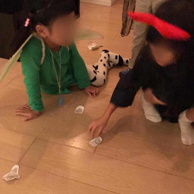 ハロウィンホームパーティー手作り輪投げゲーム