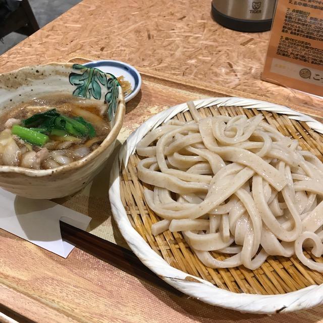 立川駅武蔵野うどんこぶし肉汁つけうどん