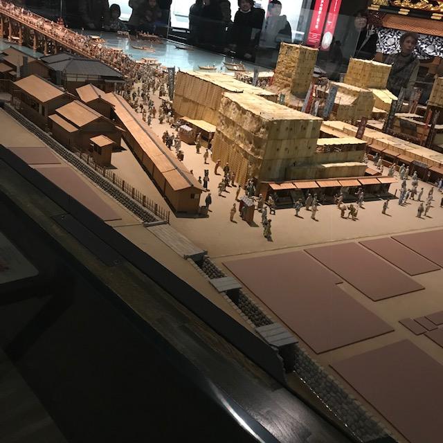 両国江戸東京博物館ミニチュアの中に1500人