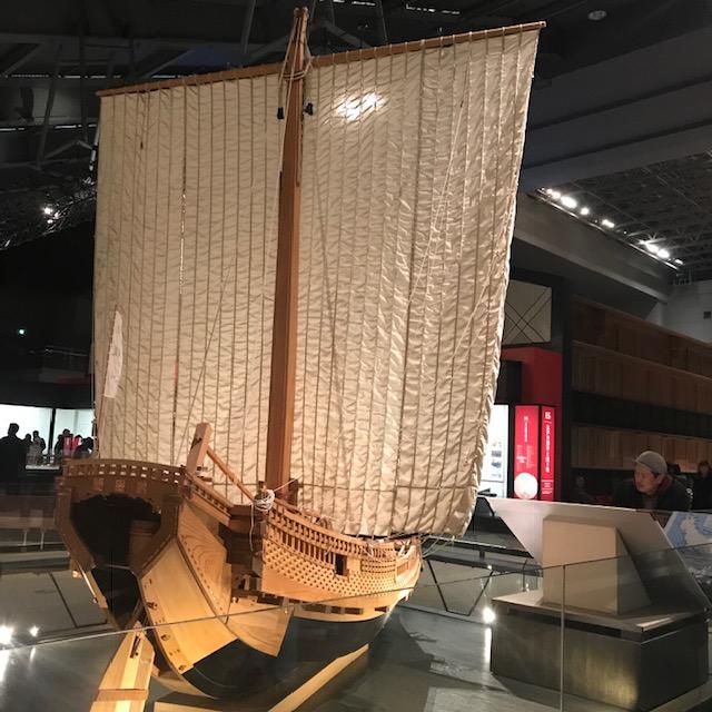 両国江戸東京博物館輸送に欠かせない船