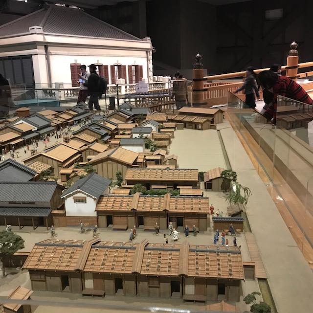 両国江戸東京博物館日本橋付近のミニチュア