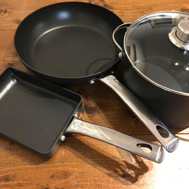 マイヤーハードアナダイズドシリーズで揃えてみたエッグパンフライパン鍋