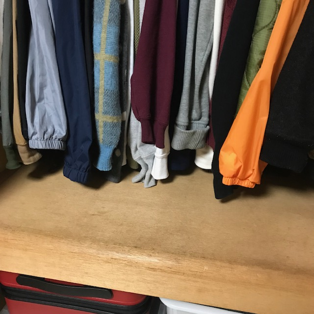 片付けられない人向け洋服の一時置き場を作る