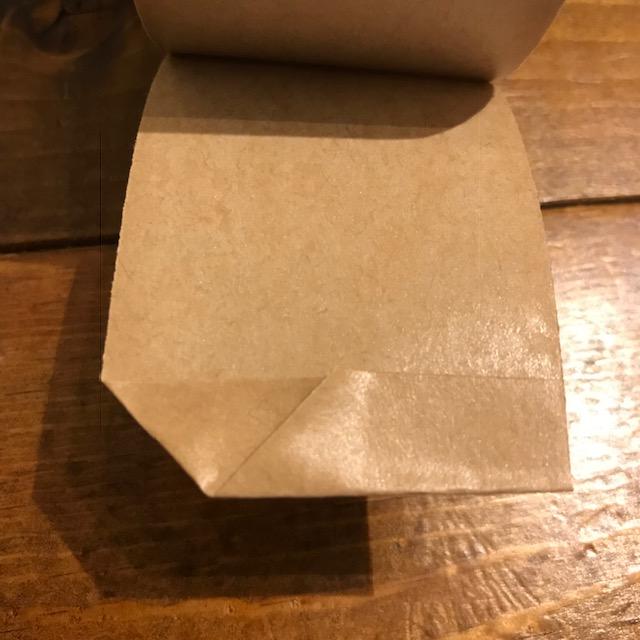 梱包ガムテープの貼り方に開けやすいひと工夫三角に折る2