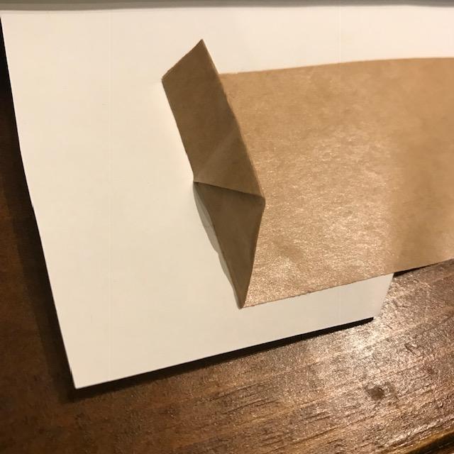 梱包ガムテープの貼り方に開けやすいひと工夫三角に折る3