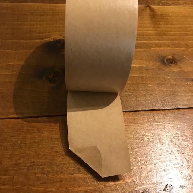 梱包ガムテープの貼り方に開けやすいひと工夫三角に折る