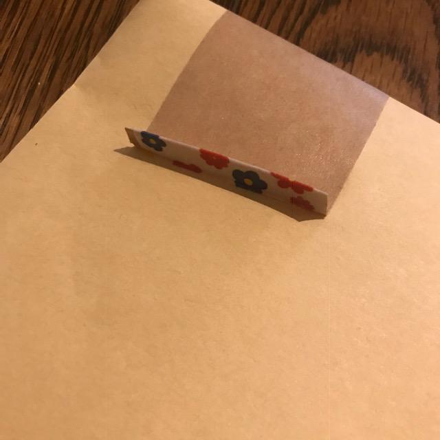 梱包ガムテープの貼り方に開けやすいひと工夫マスキングテープ使用2