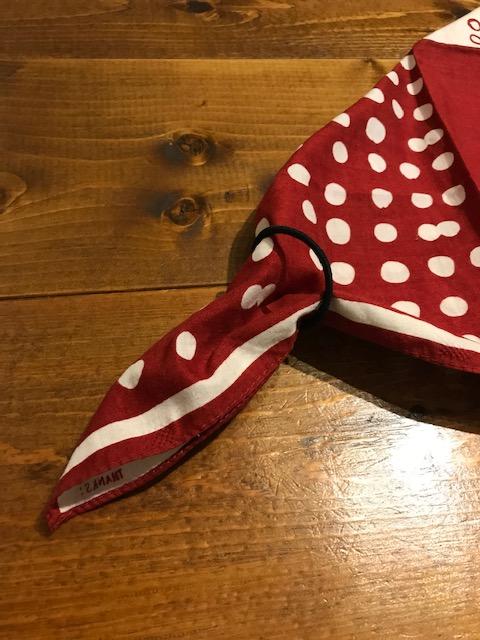 バンダナでゴム付き三角巾の作り方3