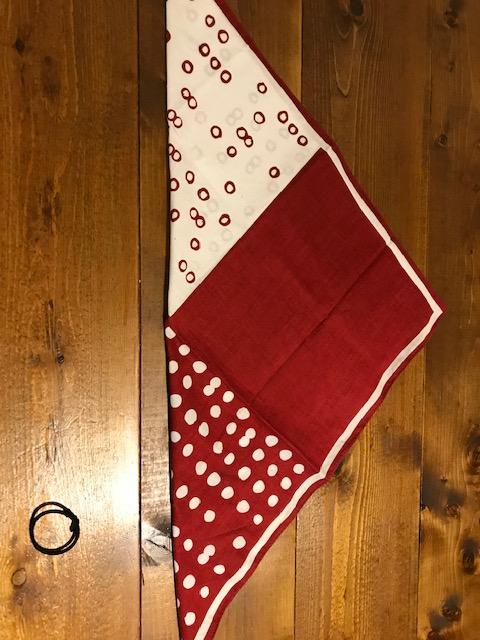 バンダナでゴム付き三角巾の作り方2