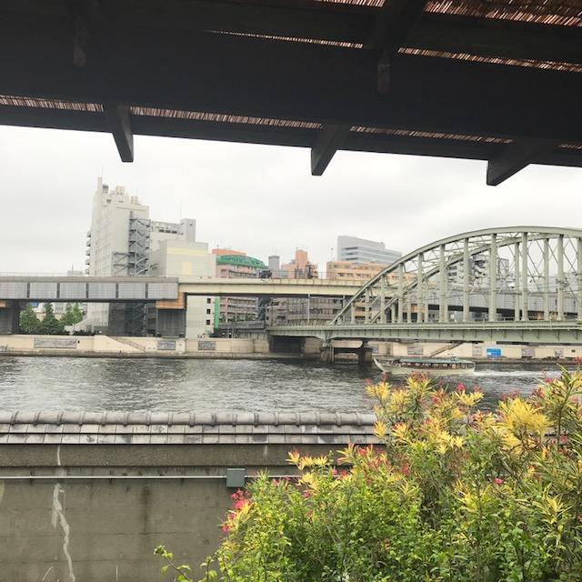 浅草橋ルーサイトギャラリーカフェからの眺め