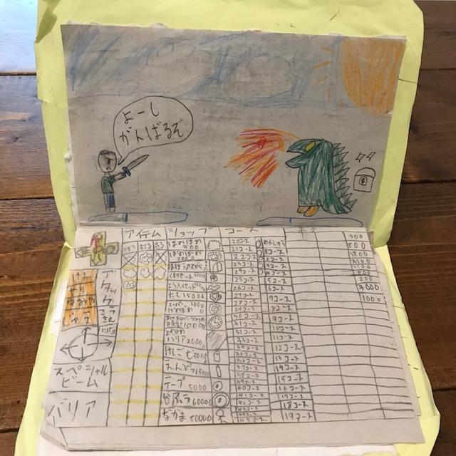 小3女子の1人遊びタブレット作り