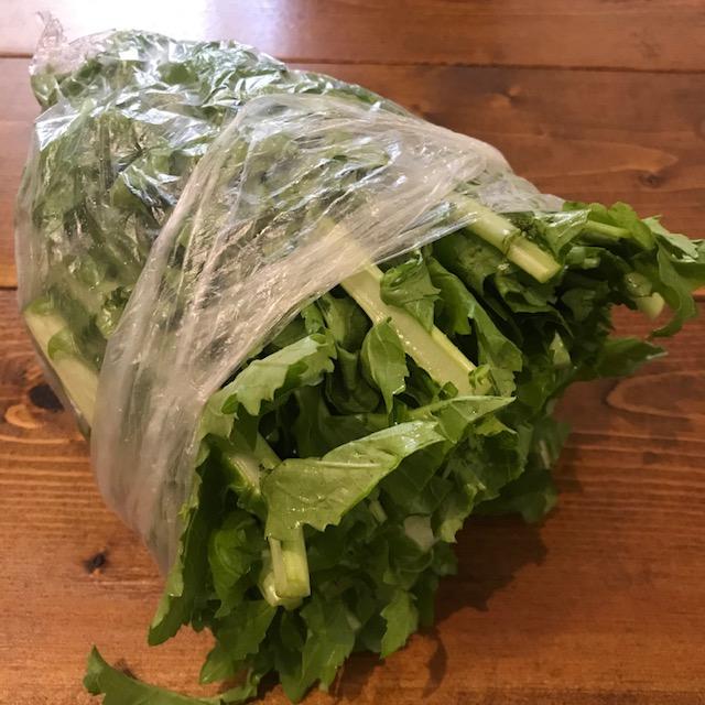 大根の葉刻んで冷凍保存