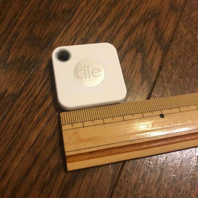 スマートトラッカーTileMateのサイズ